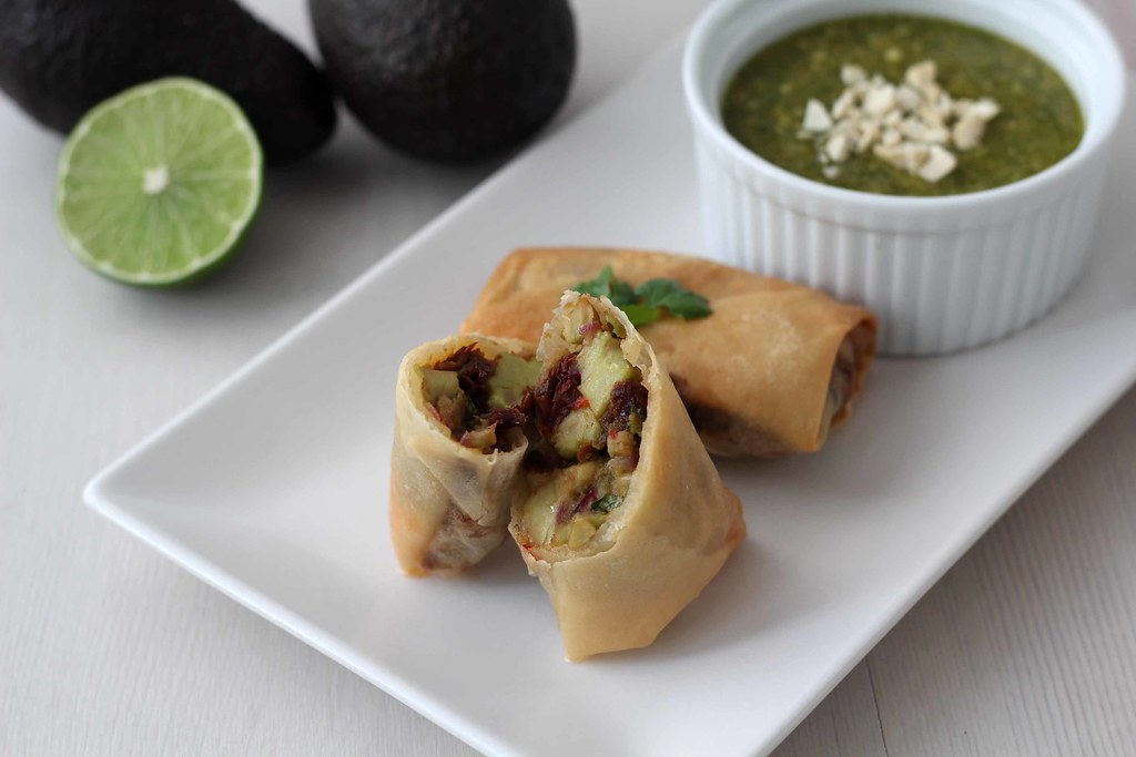 Recipe for Homemade Cheesecake Factory Avocado Egg Rolls