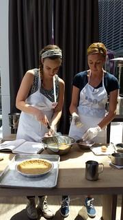 Chef Tosi's Crack Pie Class: Slowly Work In Yolks