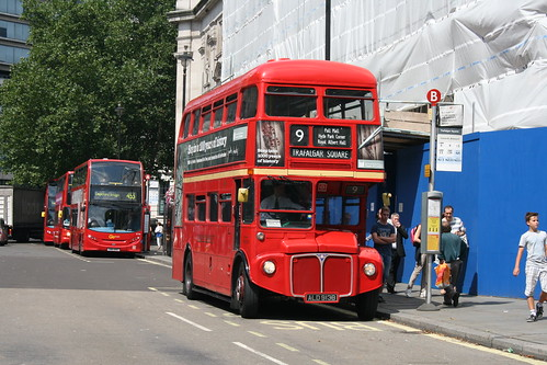 Tower Transit RM1913 on Route 9H, Trafalgar Square - Last Day of Routemasters on Route 9H