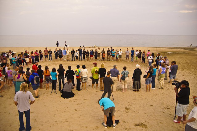 Forming a Circle Around Great Lakes Installation