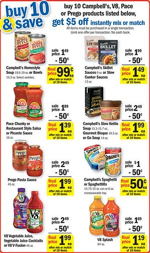 photograph relating to Campbell Soup Printable Coupon called Campbells Soup 0.10/can at Meijer with Printable Coupon