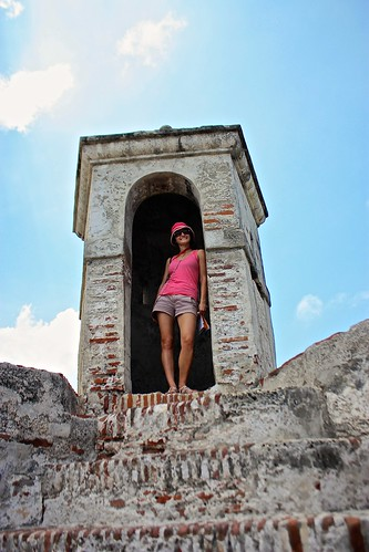 Lina at the top of Castillo San Felipe de Barajas