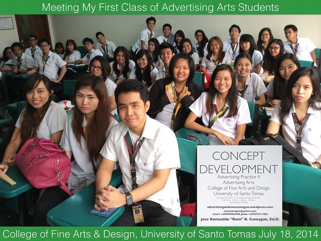 Meeting My First Class of Advertising Students UST