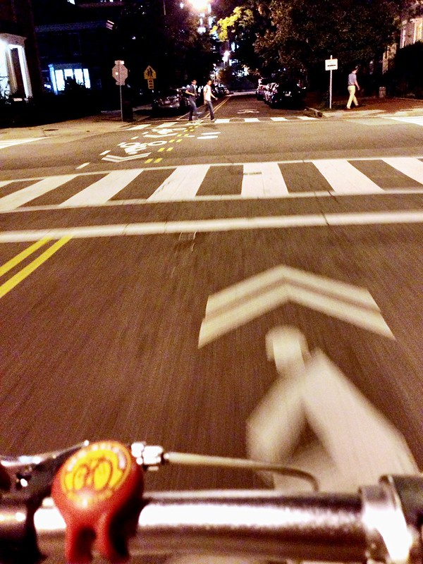 G St night biking