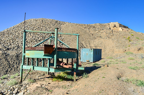 Abandoned (diamond) mining equipment, southern Namibia