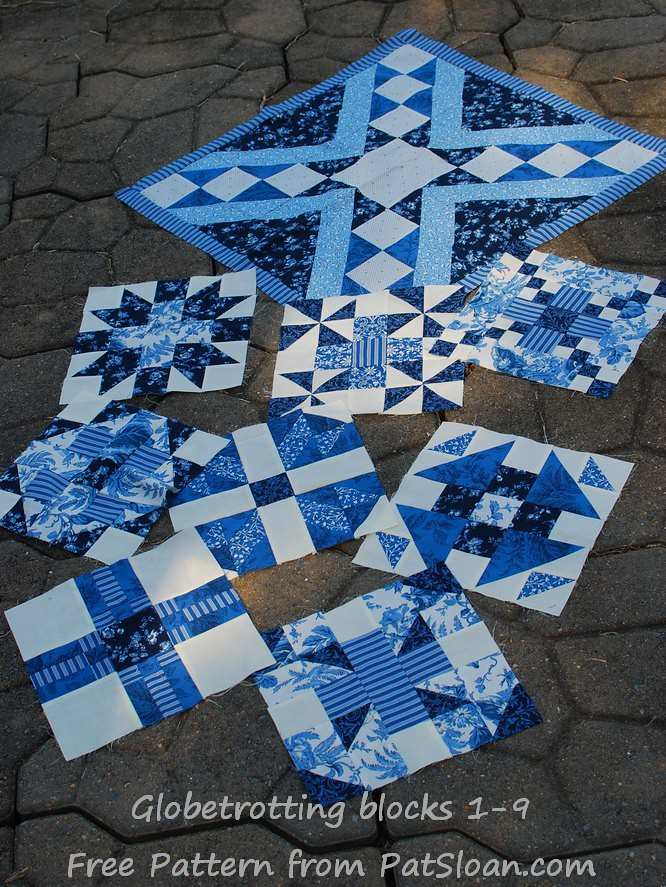 pat sloan barcelona block 9 all blue bocks