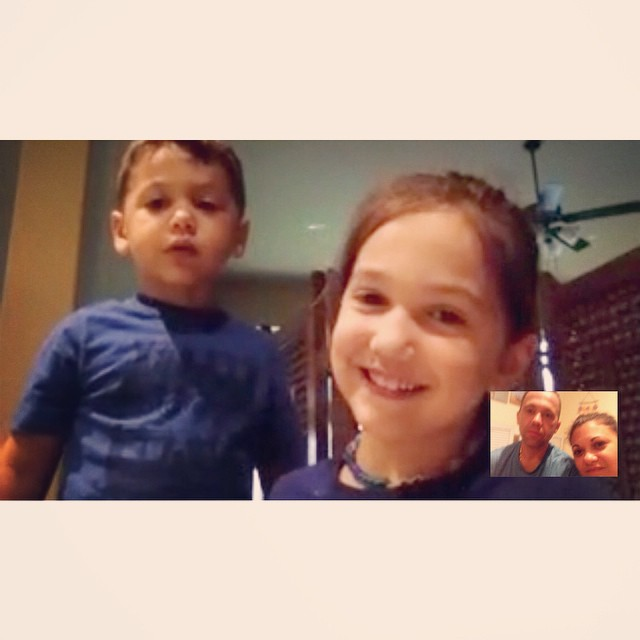 Technology sure makes it a little easier to be away from my babies!!
