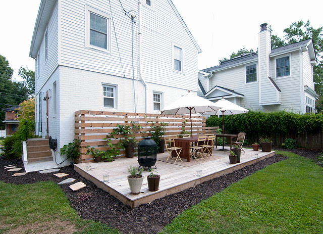 Angela s restored and restyled colonial part 2 diy del ray for How much to build a floating deck