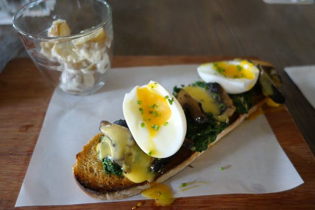 Florentine Brunch Tartine at The Disgruntled Chef. Singapore