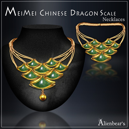 MeiMei Dragon Scale Pt Necklace Jade
