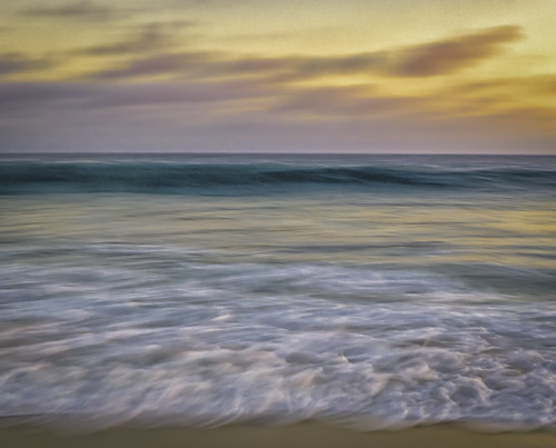 ocean california sunset sand waves unitedstates newportbeach