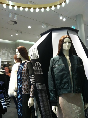 H&M A/W 2014 Studio Collection mannequins and store display