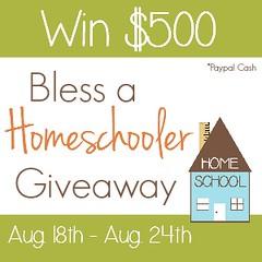 Bless a Homeschooler Giveaway 300x300