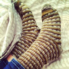 Today, the weather was chilly. Really lovely to wear #handknit #socks! #winteriscoming