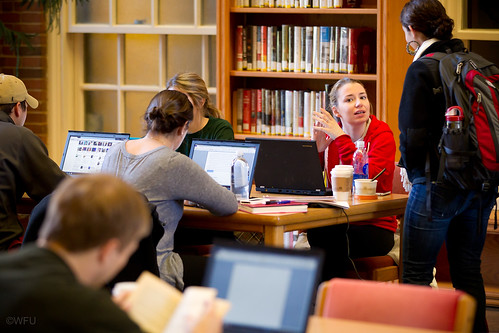 Students in ZSR Library
