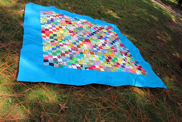 finished Purge picnic quilt!