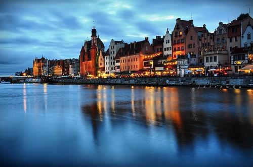 longexposure sea night noc gdańsk morze jarrowka