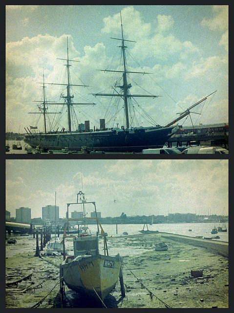 Color Implosion Film - HMS Warrior - Portsmouth