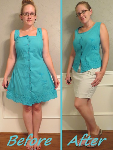 Dragonfly Blouse - Before & After