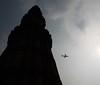 Plane crossing over Qutub Minar