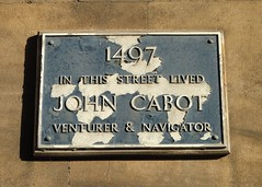 Photo of John Cabot blue plaque