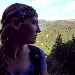 self-portrait Vosges hiking