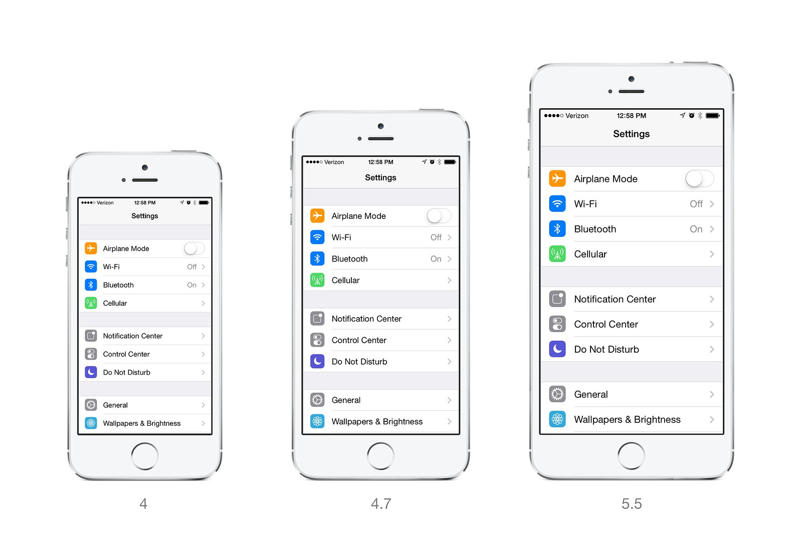 iPhone 6 Larger Text