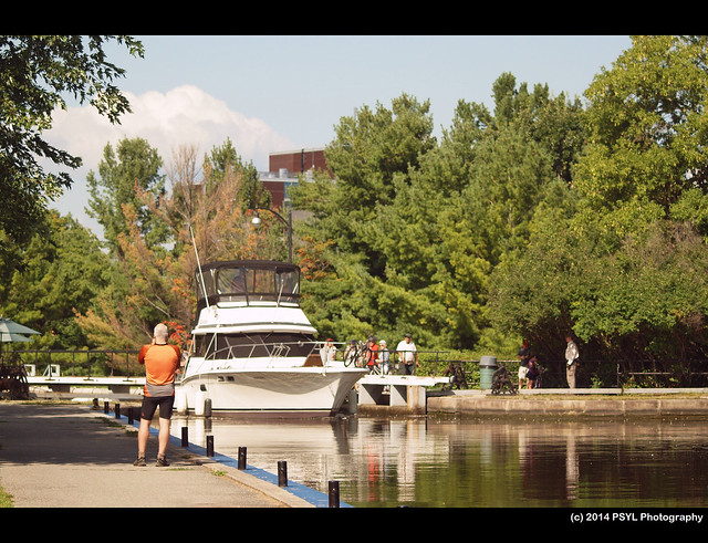 Boat on Rideau Canal