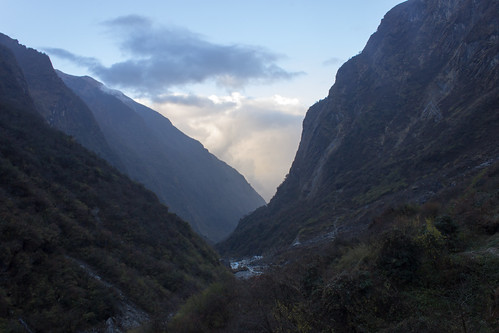 morning nepal sunset camp trek cloudy base annapurna himalayas 2012 kaski westernregion deurali