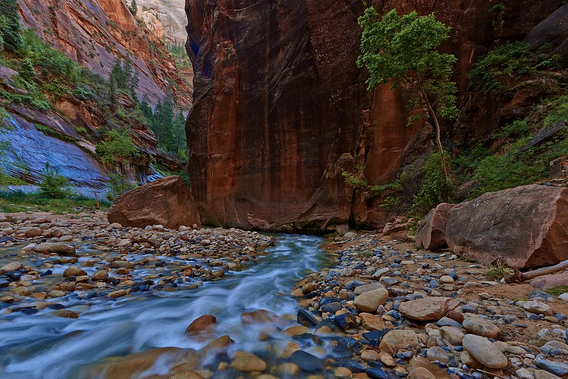 Waves in the Narrows - Zion National Park