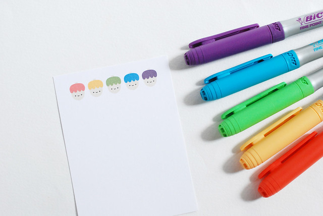 Rainbow Acorn Cards