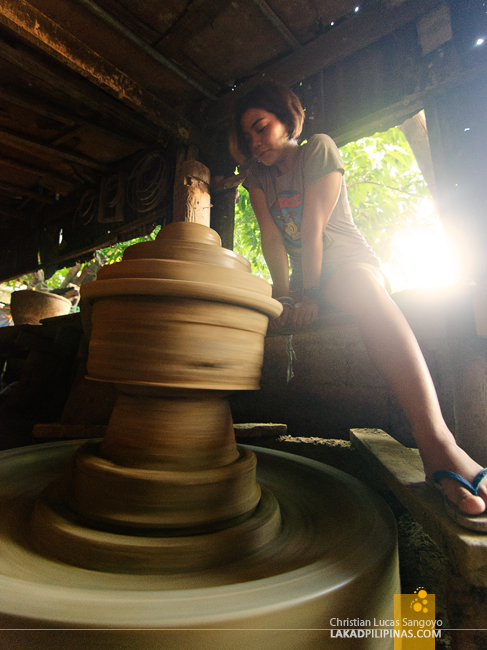 Visitors Trying Out Pottery at a Pagburnayan in Vigan City
