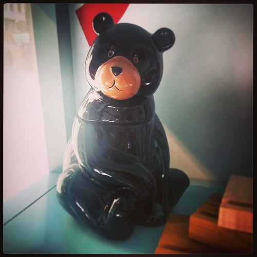I saw this adorable brown bear cookie jar @cincycac museum gift shop... #TooCute