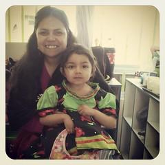 Con mi pequeña estudiante #yoamoserprofesora