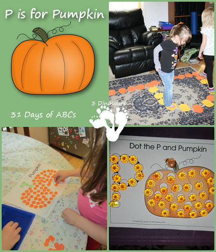 P Is for Pumpkin Activities (Photo from 3 Dinosaurs)