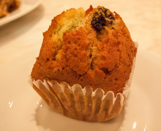 065 Banana muffin - from the restaurant