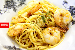 Fiery Aglio Olio With Shrimps