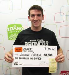 Johnny Gamboa - $1,000 Idaho $1,000,000 Raffle