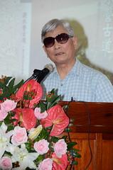 楊南郡老師於致詞時表示浸水營古道是一條貫穿台灣歷史的古道。(圖片來源:林務局)