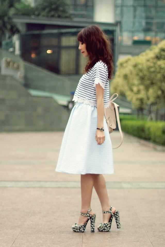 Feeling Blue // Stripes & Floral