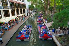San Antonio Riverwalk During Fiesta