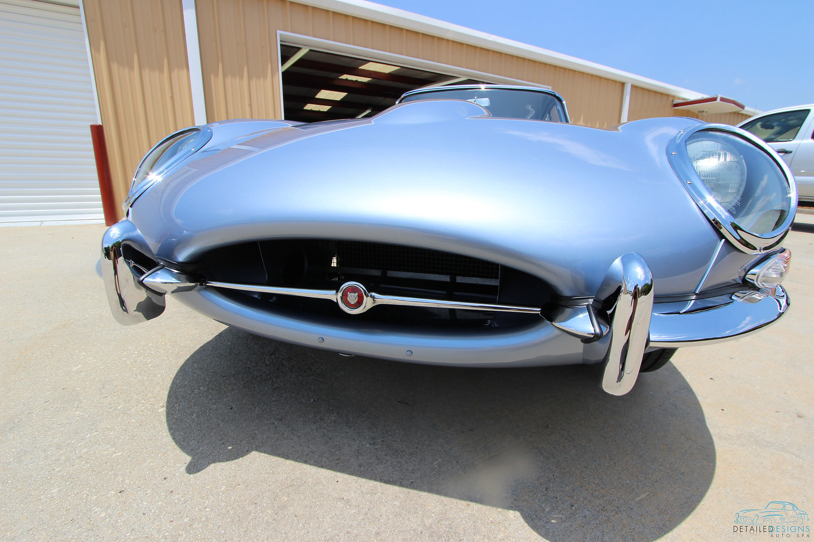Jaguar E-type show car detailing Detailed Designs Auto Spa