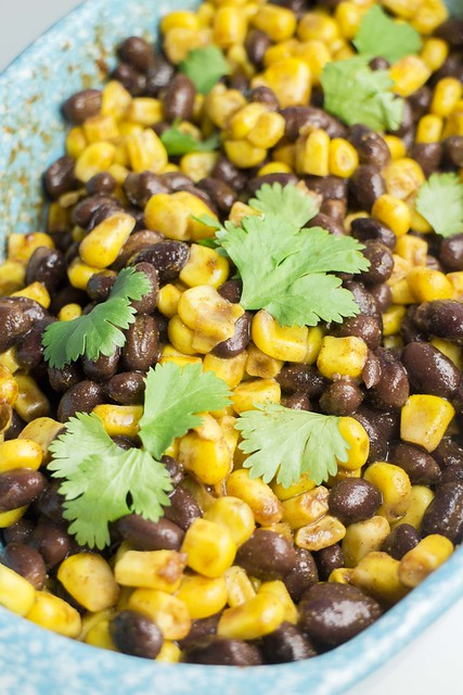 Mexican Black Bean and Corn Salsa recipe that takes 2 minutes to make.