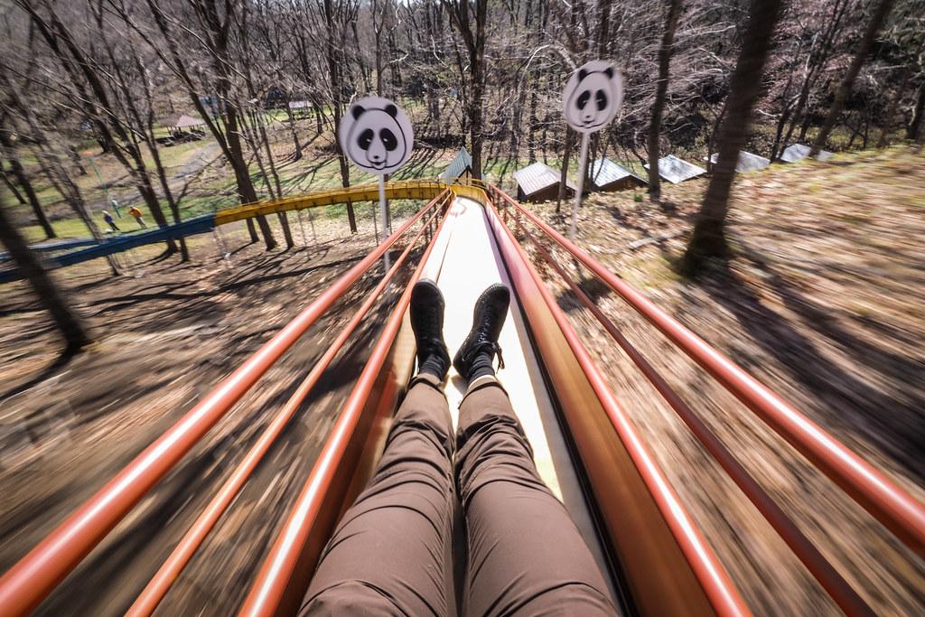 Fun slide at the Abira Campground in Abira, Hokkaido, Japan