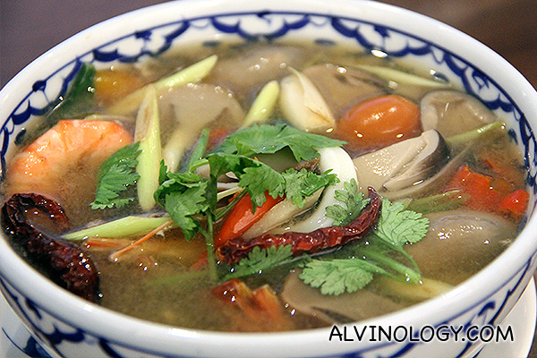 Clear Tom Yum Seafood Soup (S$10.90 for Small and S$16.90 for Large)