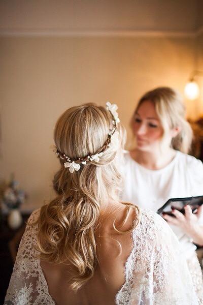 Peinados de novia flores naturales