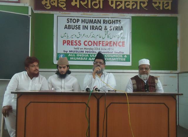 L-R: Mr. Farid Shaikh, Maulana Ejaz Kashmiri, Maulana Mahmood Daryabadi and Maulana Burhanuddin Qasmi.