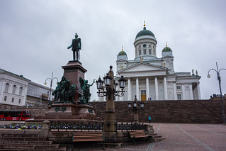 Billede af Alexander II. church monument finland helsinki europe cityscape cathedral statues scandinavia neoclassical senatesquare alexanderii helsinkicathedral greekcross stnicolaschruch