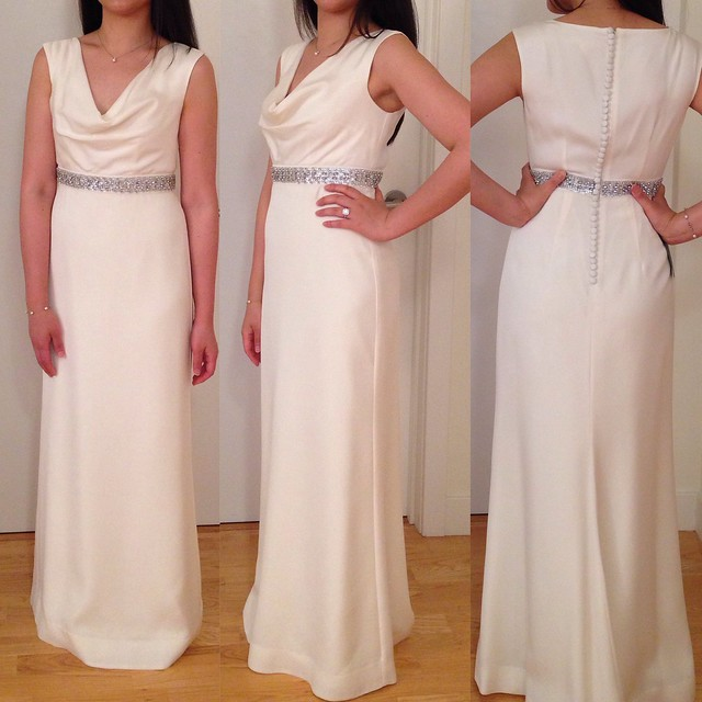 Wedding Wednesday: Ann Taylor Mya Cowl Neck Wedding Dress & Other ...