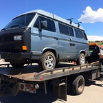 On Day 3 of our road trip, we shipped the Syncro off to Fort Collins for repairs. Thanks to Don and AAA, especially Don, who'll likely endure horrendous traffic on I-70.
